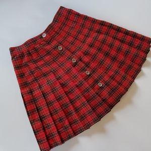 Vintage star ccc plaid mini skirt size 9